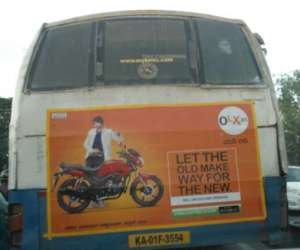 Olx Advertisement on damaged BMTC bus