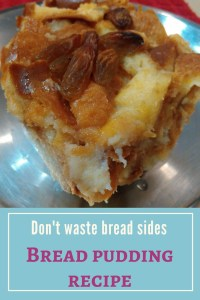 Bread pudding recipe. Do not waste those bread sides and crusts after you make your sandwiches. Make this delicious Bread Pudding instead!! Read on for recipes including no-bake and egg-less recipes.