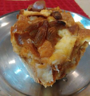 Bread pudding slice