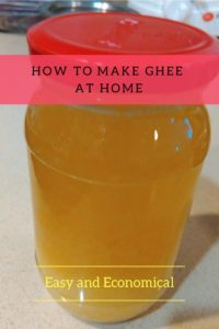 Simple method of making ghee at home from butter. Easy and economical alternative to store-bought ghee!