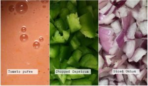 Capsicum or Bell pepper masala curry recipe ingredients
