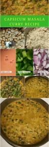 Capsicum masala recipe (Bellpepper vegetarian gravy)