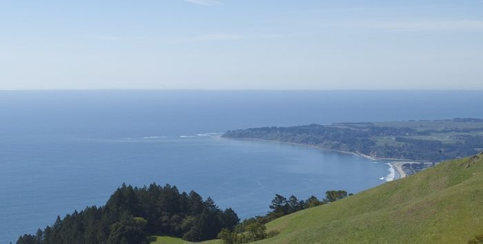 View of Stinson Beach from Mount Tam