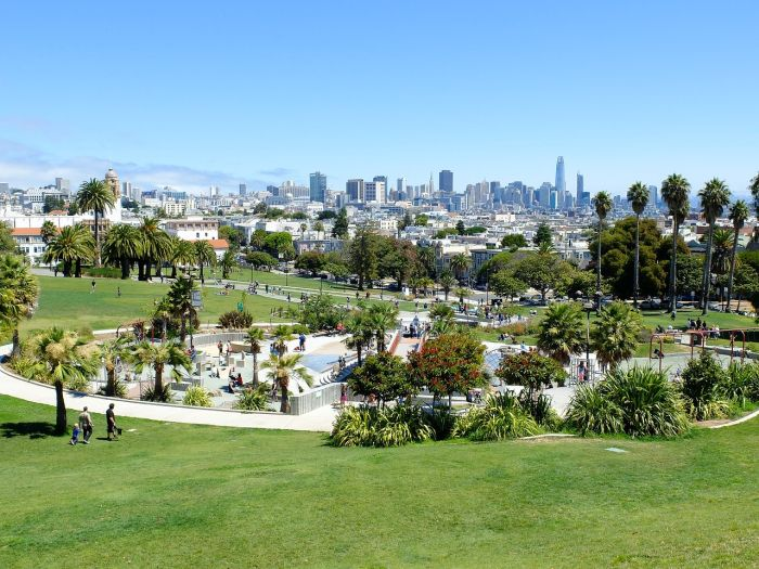 View from Mission Dolores Park