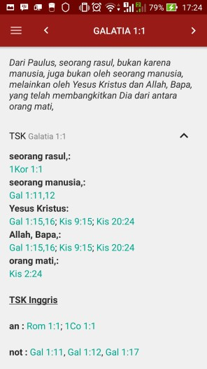 Treasury of Scripture Knowledge (mirip dengan konkordansi)