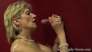 Busty UK British Mature at Gloryhole Lady Sonia