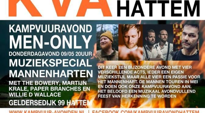 Mannenharten on tour tijdens kampvuuravond 9 mei in Hattem