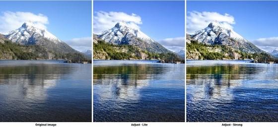 Ejemplo HDR antes y después del proceso