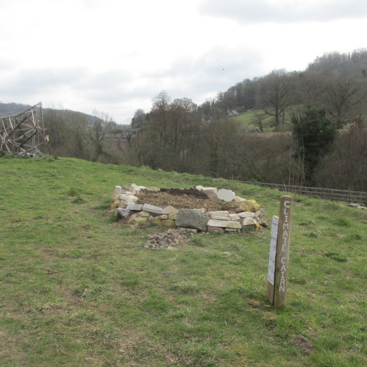 Climate cairn at Capels Mill Stroud