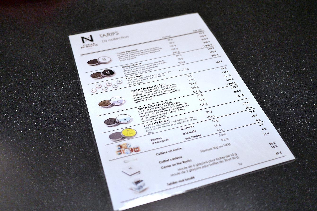Lancement De La Boutique Caviar De Neuvic Paris