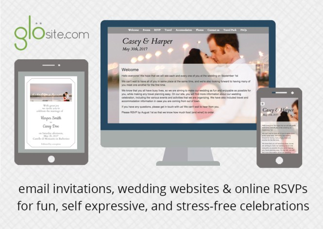 Wedding Website Email Invitation Design Template