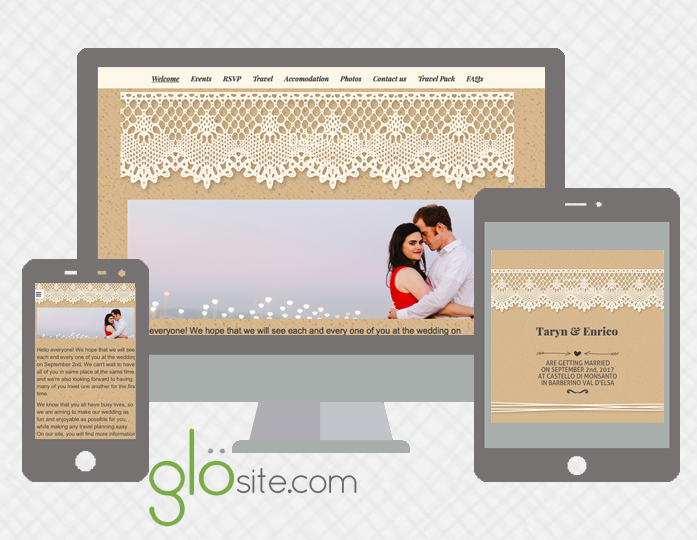 Glosite Wedding Email Invitations