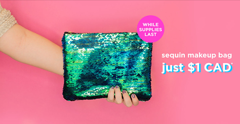 Tarte Cosmetic Canada Sequin Mermaid Bag - Glossense