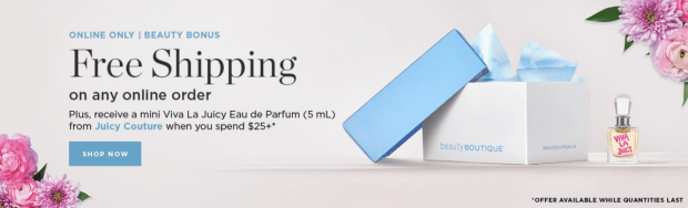 Beauty Boutique Canada SDM Shoppers Drug Mart Free Juicy Couture Viva La Juicy EDP Mini Perfume - Glossense