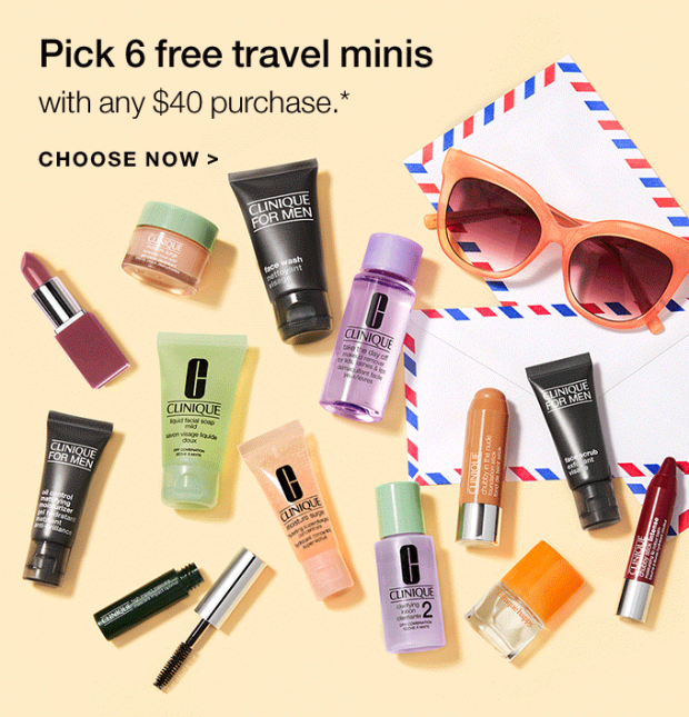 Clinique Canada 6 Free Deluxe Travel Sized Minis - Glossense