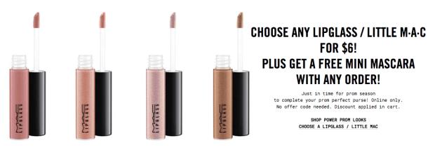 MAC Cosmetics Canada Lipglass Little Mac Promo - Glossense