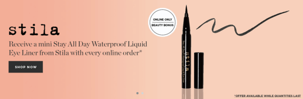 Beauty Boutique Canada SDM Shoppers Drug Mart Stila Canada Free Eyeliner Free Eye Liner with Purchase