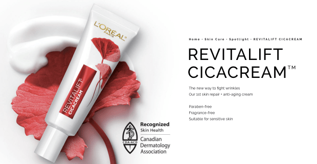 Canadian Freebies Free L'Oreal Revitalift Cicacream Anti-Aging Canada Sample - Glossense