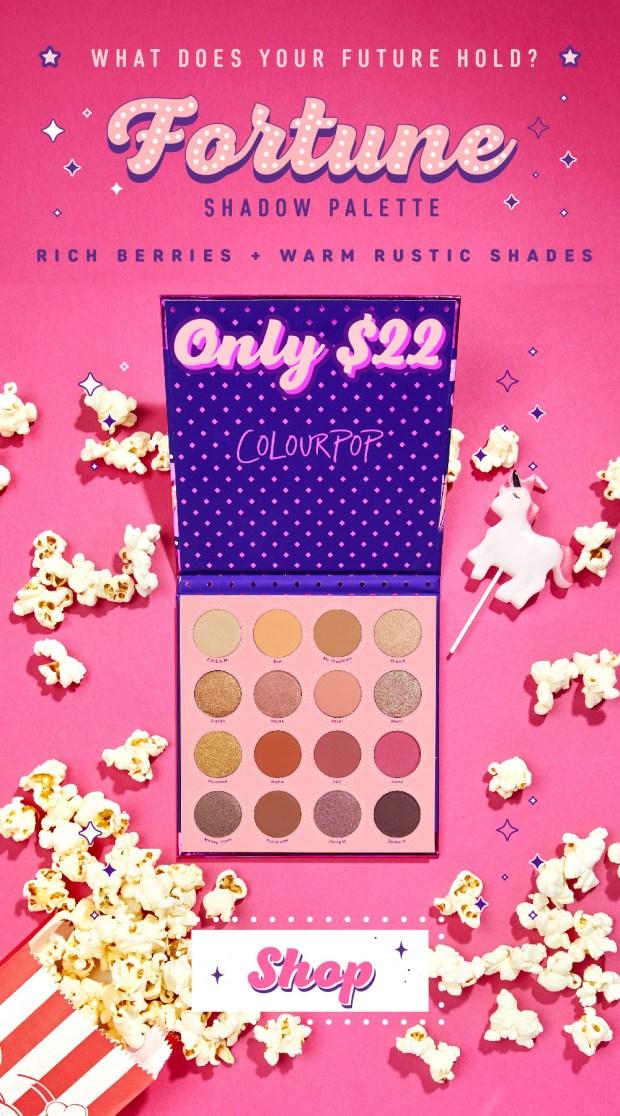 ColourPop Canada Birthday Celebration New Fortune Eyeshadow Palette - Glossense