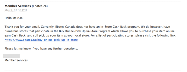 Ebates Canada In-Store Cash Back Shop In Store Get Cash Back Canadian Stores Exclusive First Look 2 - Glossense