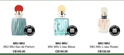 Miu Miu Canada Perfume - Glossense