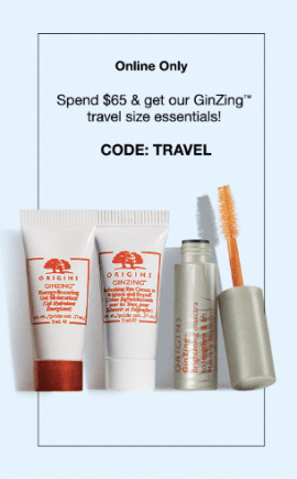 Origins Canada Free GinZing Travel Set - Glossense