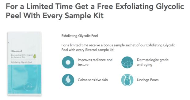 Riversol Canada Anti-Redness Sample Kit + Free Glycolic Peel - Glossense
