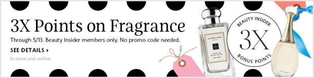 Sephora Canada 3x points on Fragrance Beauty Insider Event - Glossense