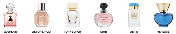 Sephora Canada Guerlain Viktor and Rolf Tory Burch Dior Aerin Versace free fragrance perfume cologne - Glossense