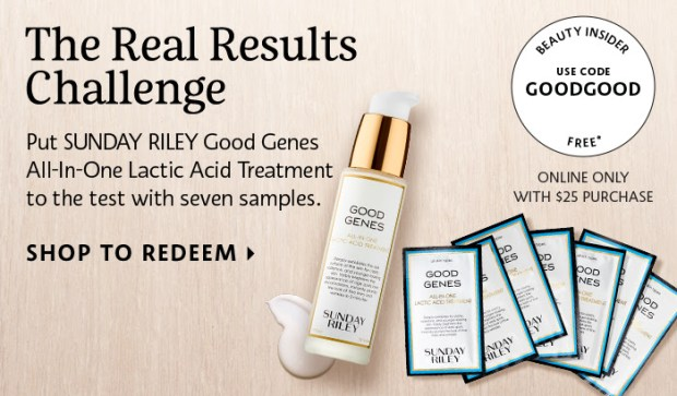 Sephora Canada Sunday Riley Good Genes Lactic Acid Treatment Free Samples - Glossense