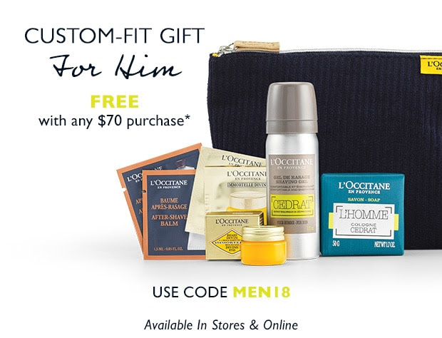 L'Occitane Canada Father's Day Promo Canadian Gift with Purchase Promo Code Offer - Glossense