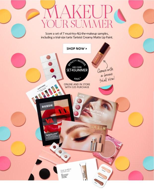 Sephora Canada Free Makeup Sample Set Free Make-up Sample Set Free Summer Makeup Set 2018 - Glossense