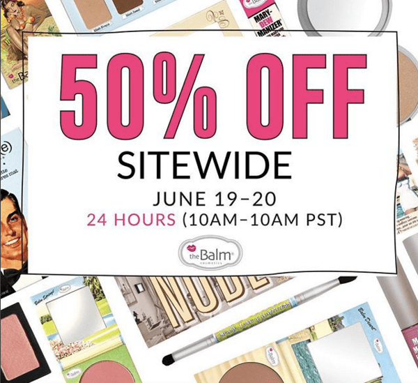 theBalm Cosmetics Canada Instagram 50 percent off Canadian Sale Summer 2018 - Glossense