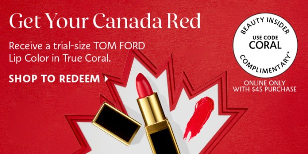 Sephora Canada Get Your Canada Red Free Tom Ford Lipstick in True Coral Promo Code Canadian Coupon Code - Glossense