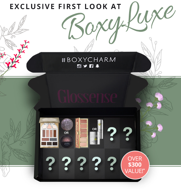 BoxyCharm Canada Canadian BoxyLuxe Subscription Box Full Spoilers Septemver 2018 - Glossense