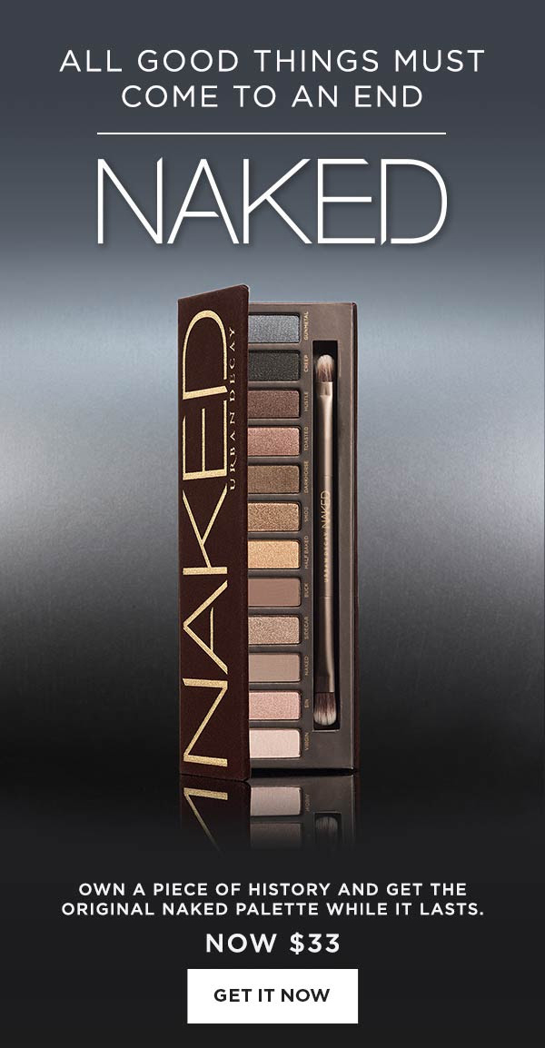 Urban Decay Canada Original Naked Eyeshadow Palette Discontinued Goodbye Canadian Sale August 2018 - Glossense