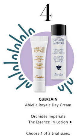 Sephora Canada Canadian Promo Code 10 Days Mystery Items Day 4 Free Guerlain Abeille Royale Orchidee Imperiale Lotion Cream Samples - Glossense