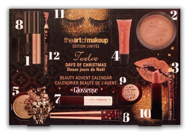 Real Canadian Superstore Canada The Art of Makeup Twelve Days of Christmas 2018 Beauty Holiday Advent Calendar theartofmakeup French - Glossense
