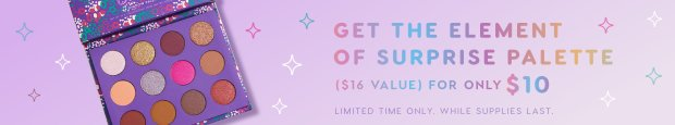 ColourPop Canada 2018 Canadian Black Friday Cyber Week Cyber Monday Deals November 21 2018 Element of Surprise Palette Only 10 - Glossense