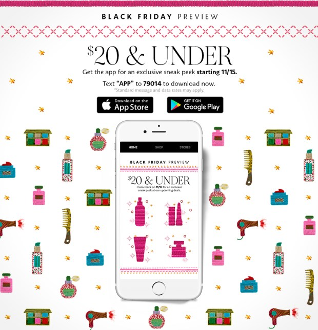 Sephora Canada 2018 Black Friday Canadian Preview App Deals - Glossense