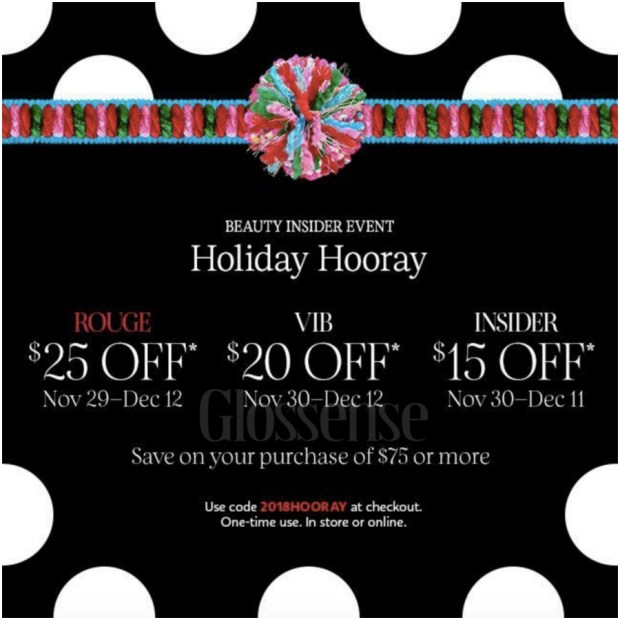 eeca50495de9 Sephora Canada Beauty Insider 2018 Holiday Hooray Christmas Bonus Event  Reward Savings Coupon Promo Code Gift