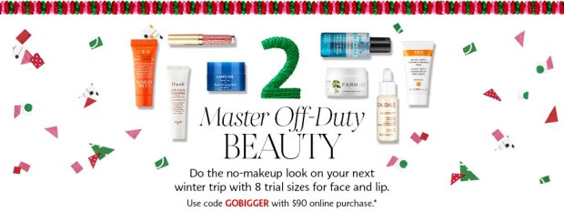 Sephora Canada Canadian Promo Coupon Code 2018 Choose Your Free Holiday Christmas Gift Goody Goodie Bag with Purchase GWP Canadian Freebies 2 - Glossense