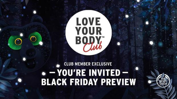 The Body Shop Canada Black Friday Cyber Monday Preview Canadian Sales Deals 2018 2019 Love Your Body Club Members - Glossense