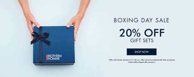 Biotherm Canada 2018 Boxing Day Sale Boxing Week Deals Save on Gift Sets - Glossense