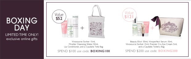 Caudalie Canada 2018 Canadian Boxing Day Deals Exclusive Gift Offer Promo Coupon Code GWP - Glossense