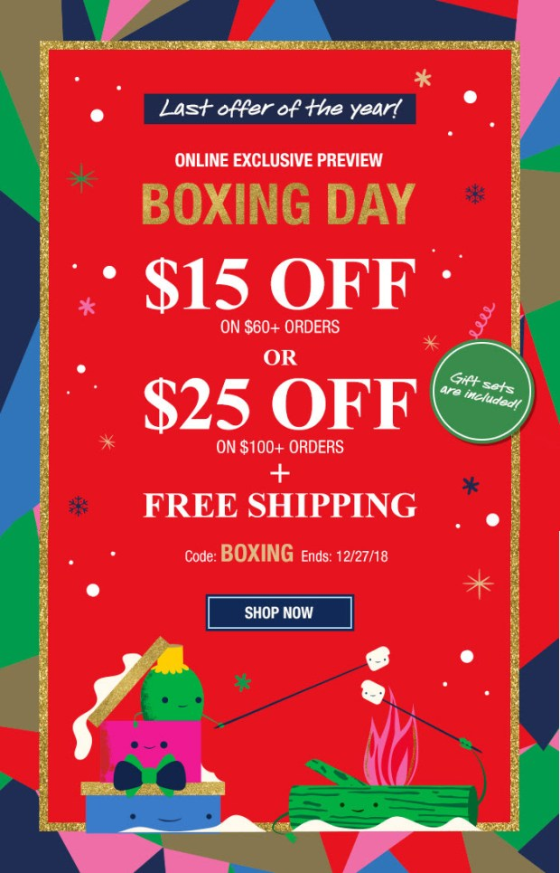 Kiehl's Since 1851 Canada 2018 Canadian Boxing Day Deals Deal Sale Sales Promo Code Coupon Offer - Glossense