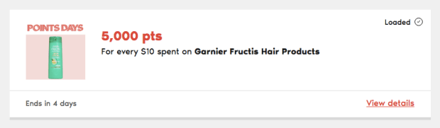 PC Optimum Points Days Canada Canadian Rewards Garnier Products - Glossense