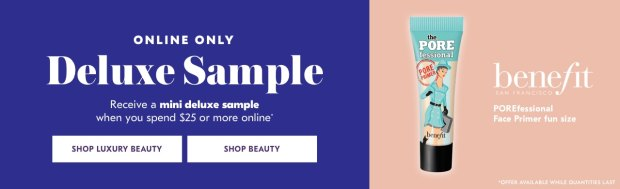 Shoppers Drug Mart SDM Beauty Boutique Canada 2019 Canadian Freebies Deals GWP Free Benefit Cosmetics Porefessional Primer Mini Deluxe Sample - Glossense