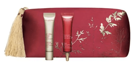 Clarins Canada 2019 Canadian Chinese New Year Lunar New Year 2 piece Pouch Gift Set Free GWP Gift with Purchase Hudson's Bay HBC The Bay Promotions - Glossense