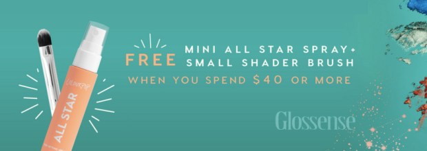 ColourPop Cosmetics Canada Canadian GWP Offer Gift with Purchase Free Makeup Brush All Star Spray - Glossense